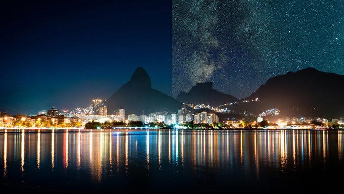 Rio De Janeiro Brazil light pollution