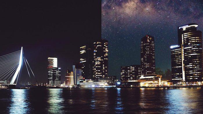 Rotterdam Netherlands light pollution