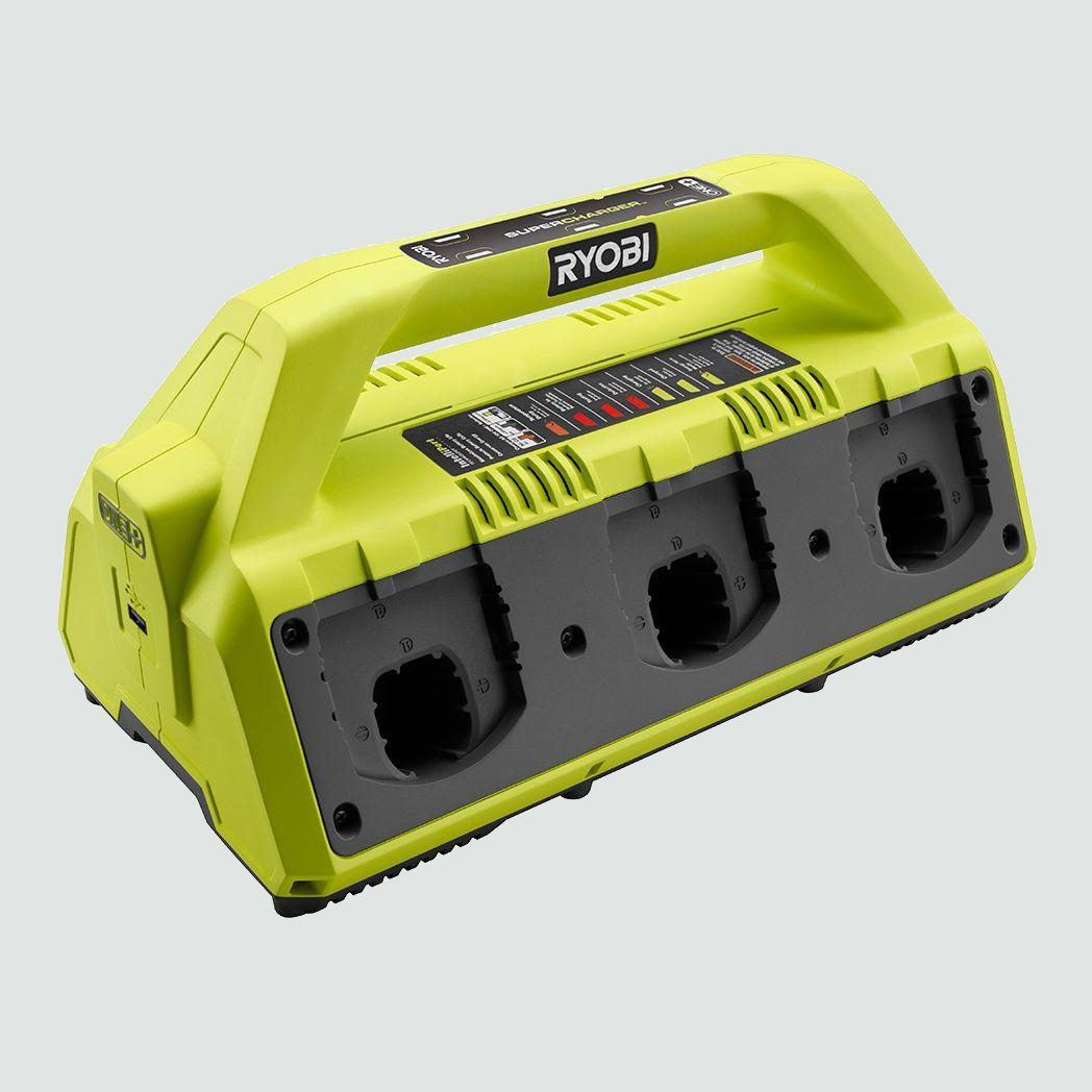 Ryobi 18-Volt ONE+ 6-Port Dual Chemistry IntelliPort Supercharger with USB Port