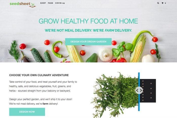 Customized garden: Seedsheet delivery
