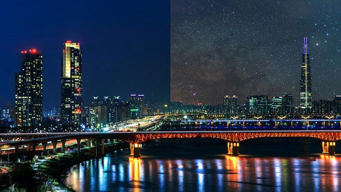 Seoul South Korea Light Pollution