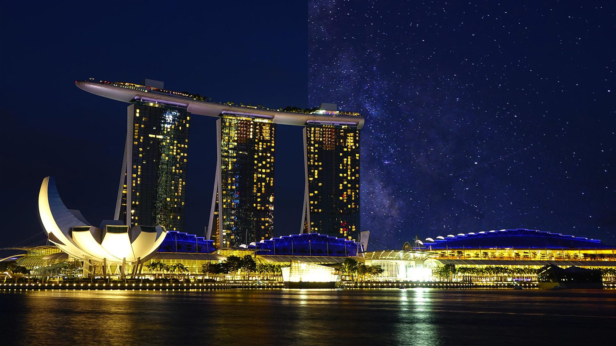 Singapore Asia light pollution city