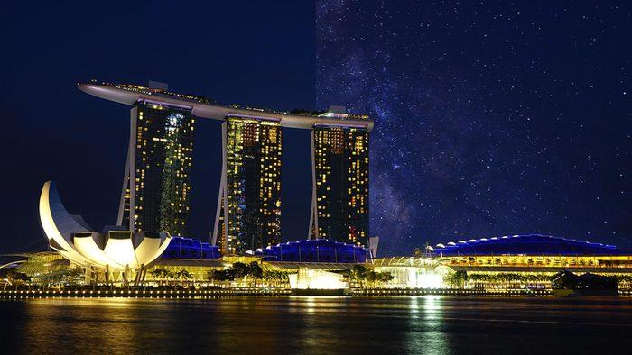 Singapore Asia light pollution city