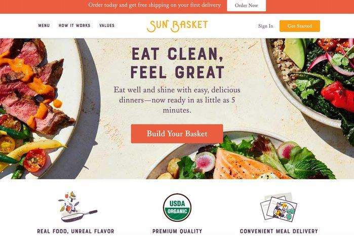 Gourmet meal kits: Sun Basket