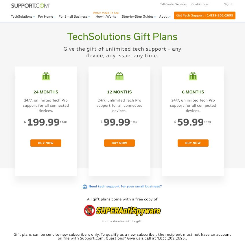 Support.com 24/7 tech support