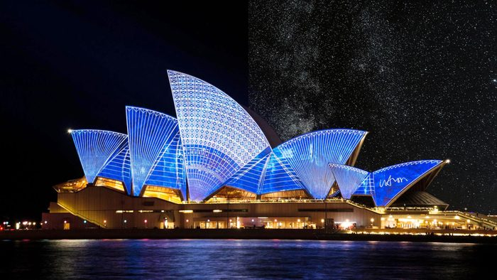 Sydney Australia light pollution city