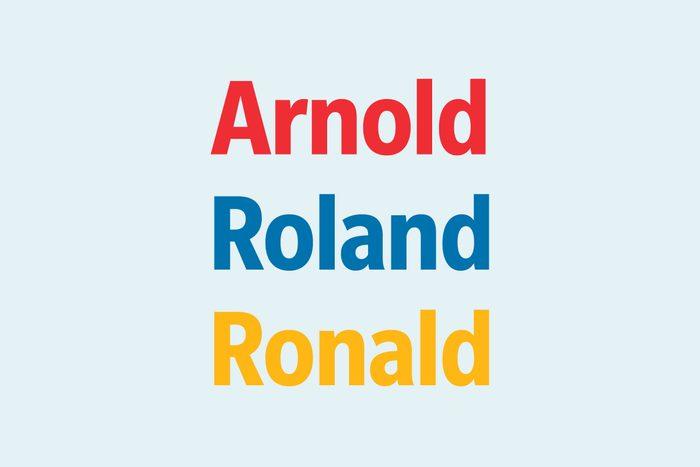 Text: Arnold Roland Ronald