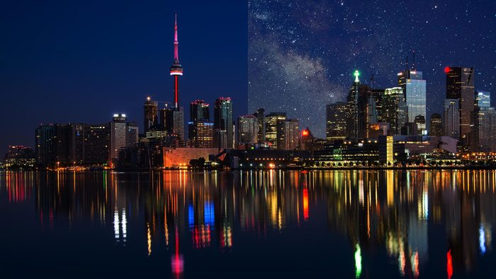 toronto light pollution city