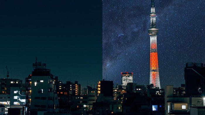 tokyo Japan light pollution