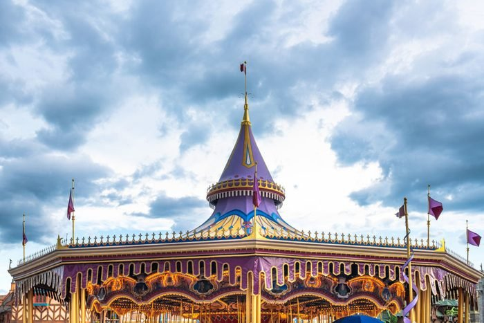 Upper part of the carousel ride in the Walt Disney's Magic...