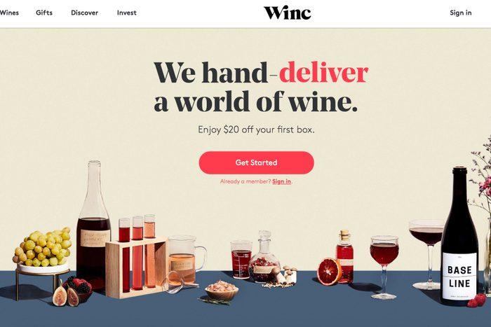 Premium wines: Winc