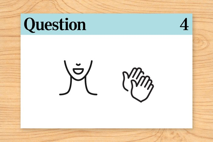 face and hands. question 4.