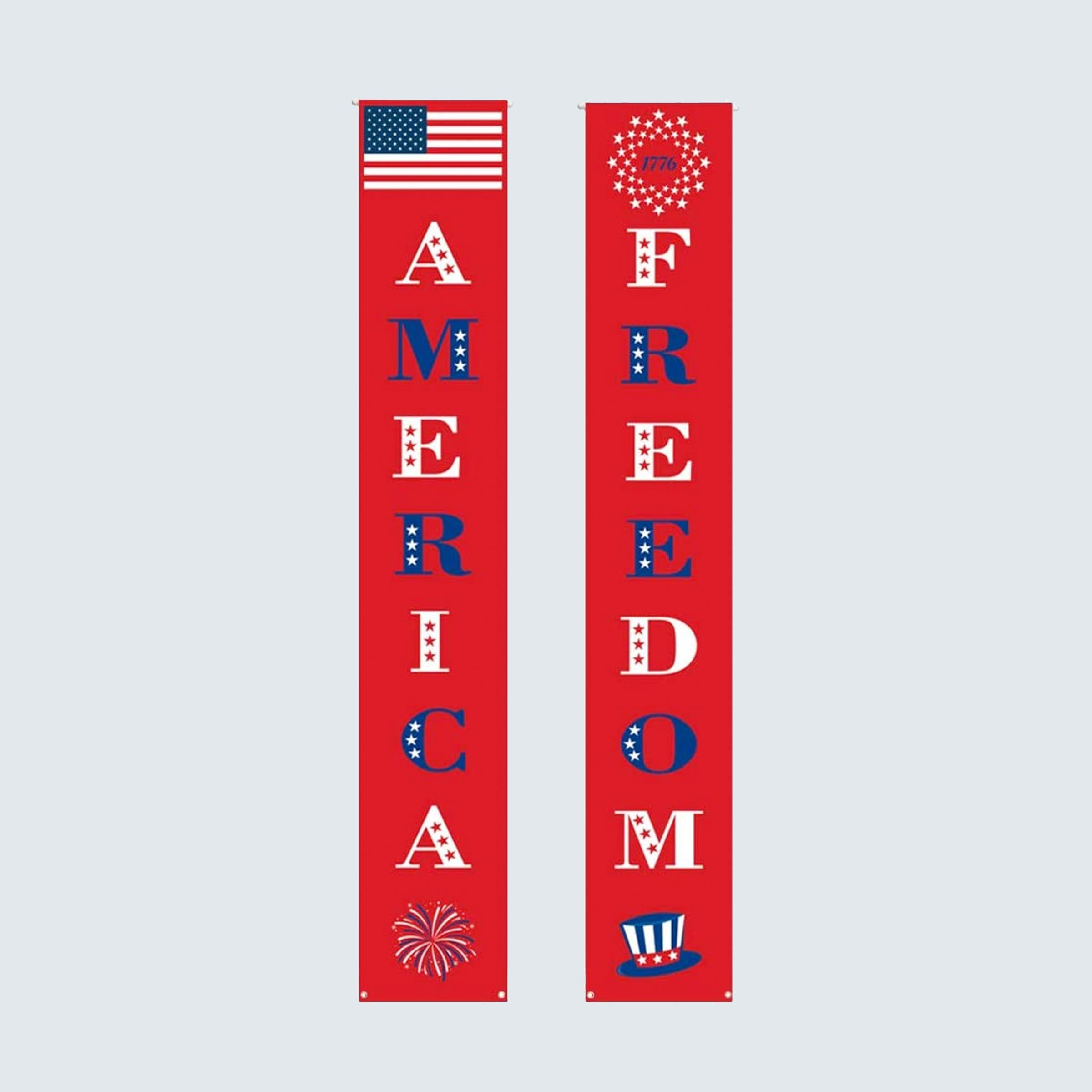 Fourth of July hanging banners