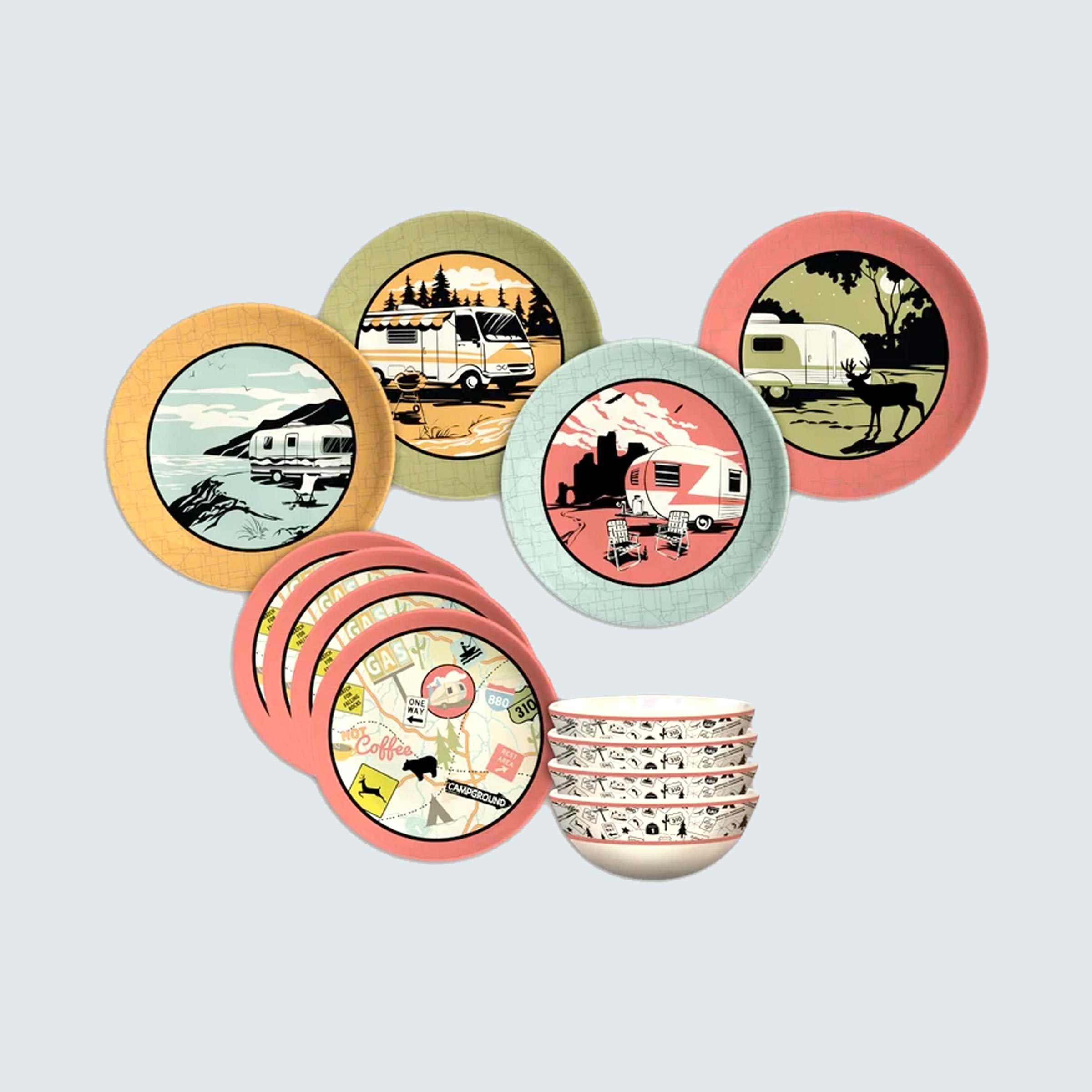 Cranmore 12-Piece Melamine Dinnerware Set