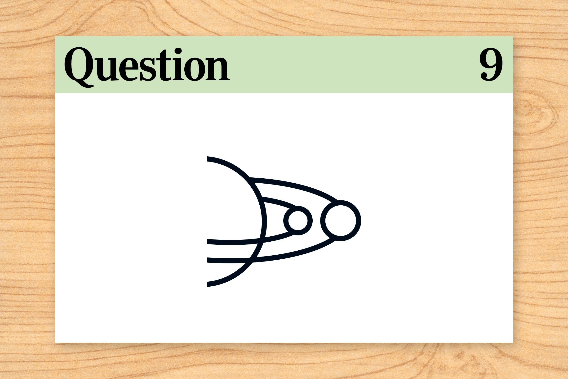 question 9. outer space orbit illustration