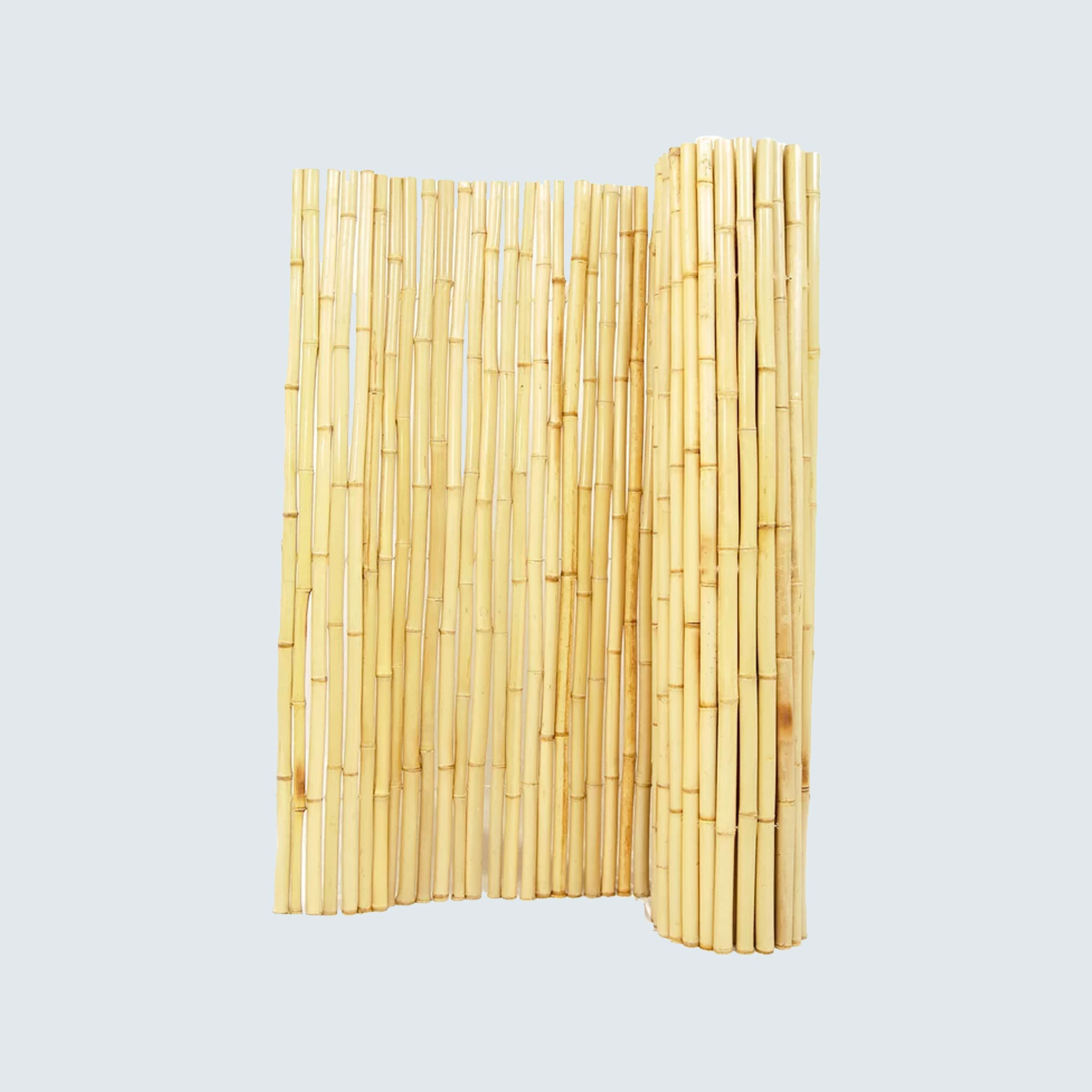 Rolled Bamboo Fence Panel