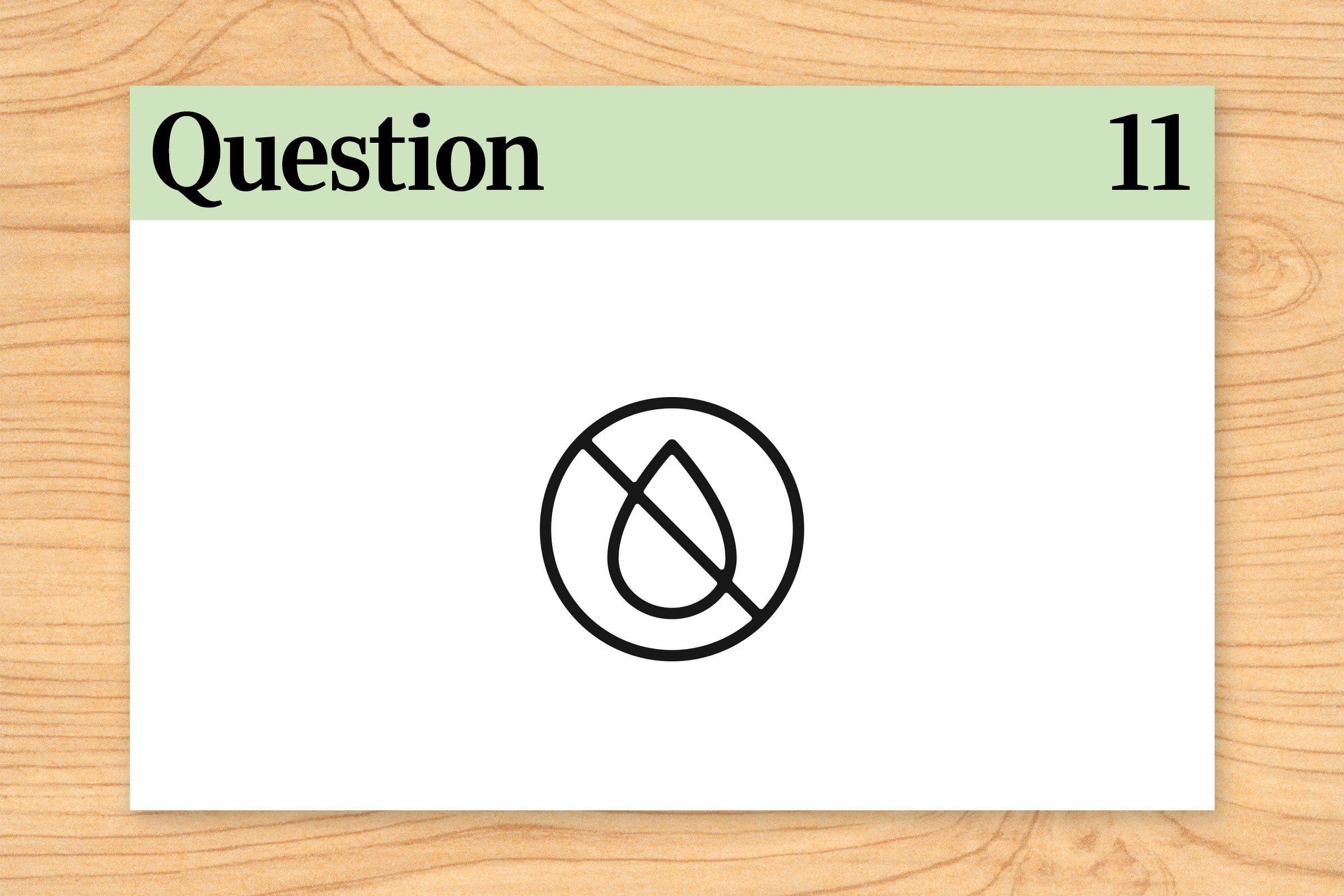 question 11 brain teaser. no water illustration