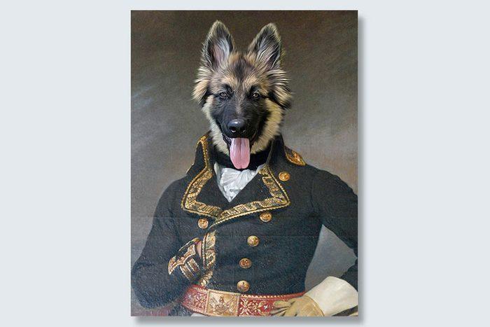 tongues out for battle dogeface pet portrait