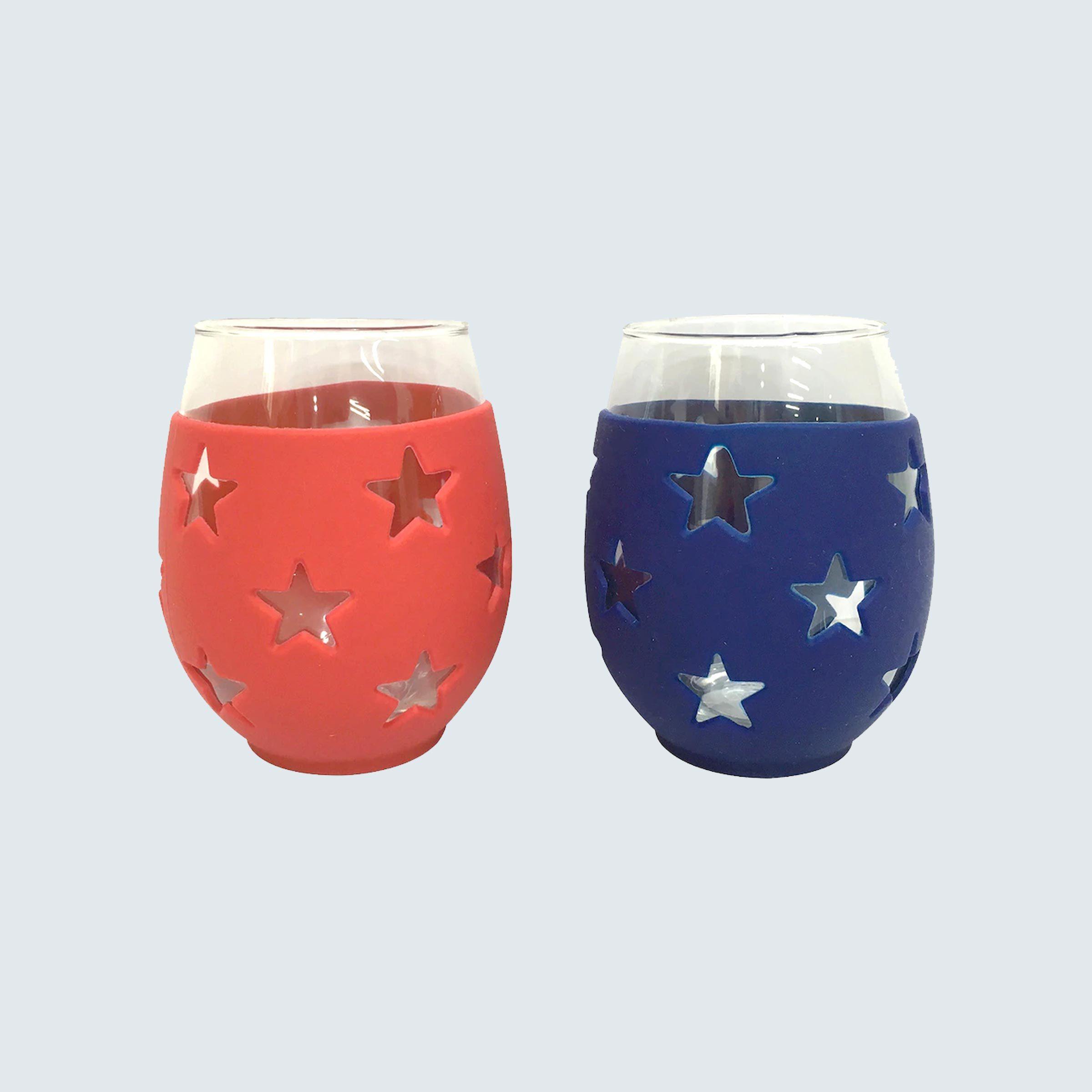 Celebrate Americana Together 2-pc. Stars Stemless Wine Glass Set