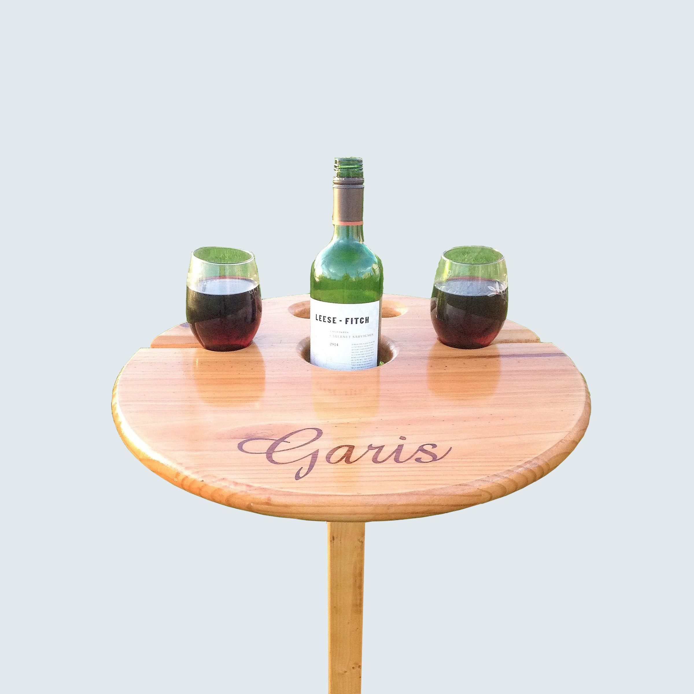 Enjoying Life Our Way Personalized Wine Table