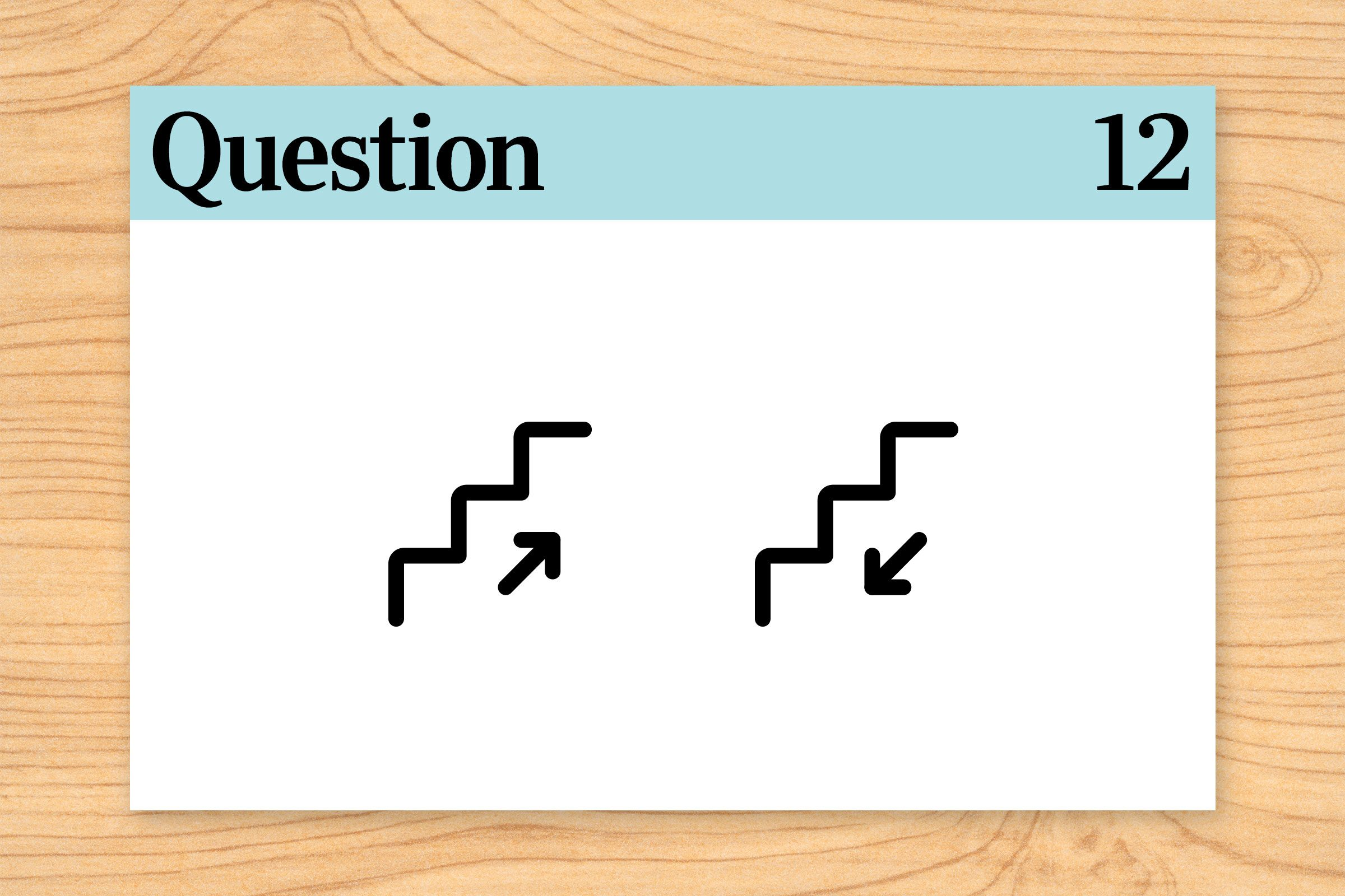 meeting directions illustration. brain teasers question 12.