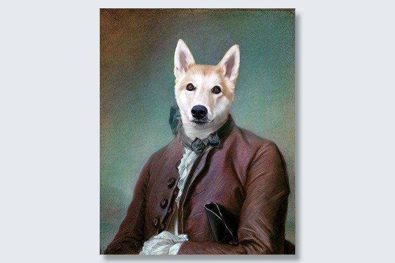 sweetest ambassador dogeface pet portrait
