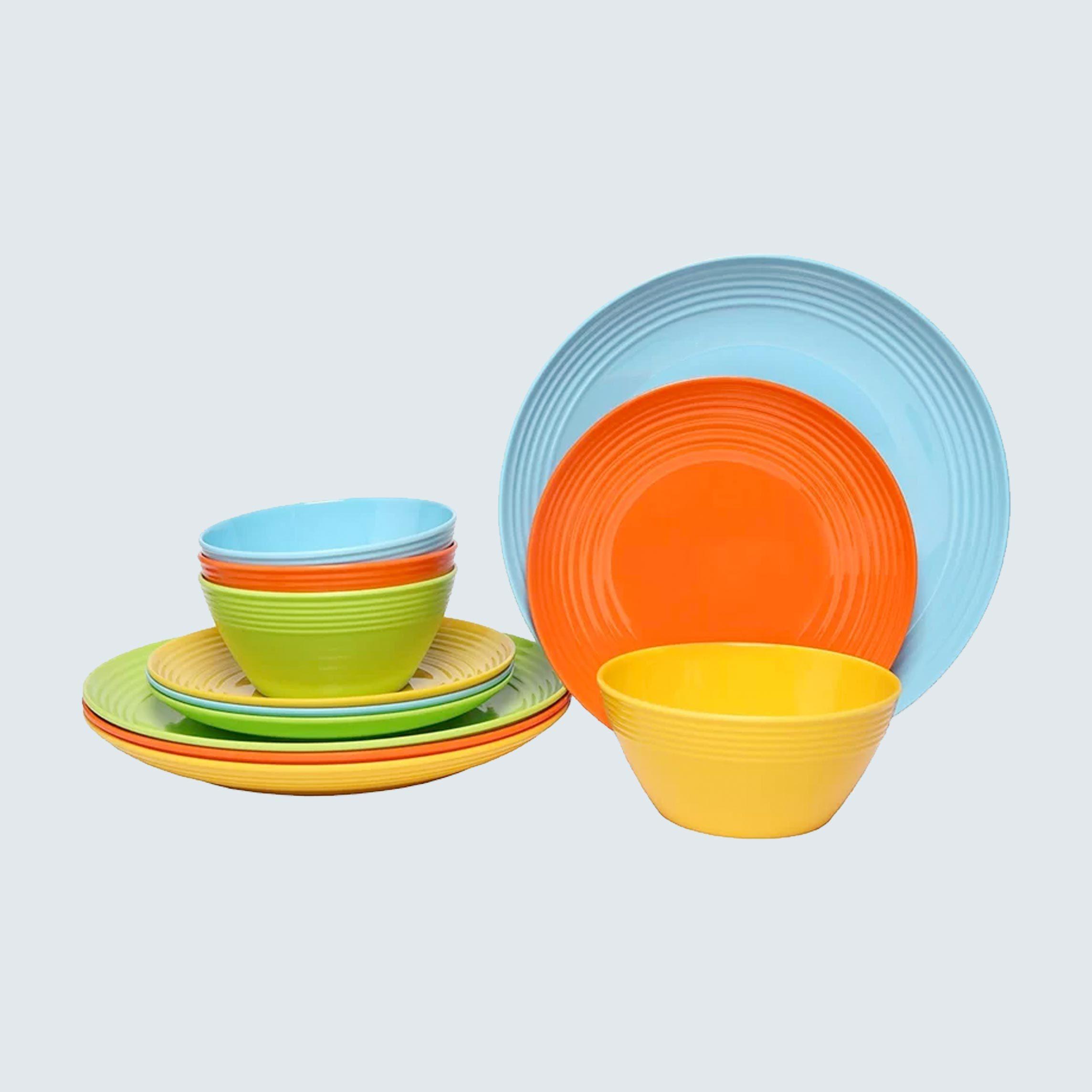 Solids 12-Piece Melamine Dinnerware Set
