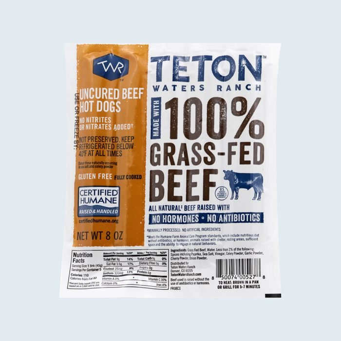 Teton Waters Ranch Uncured Beef Hot Dogs