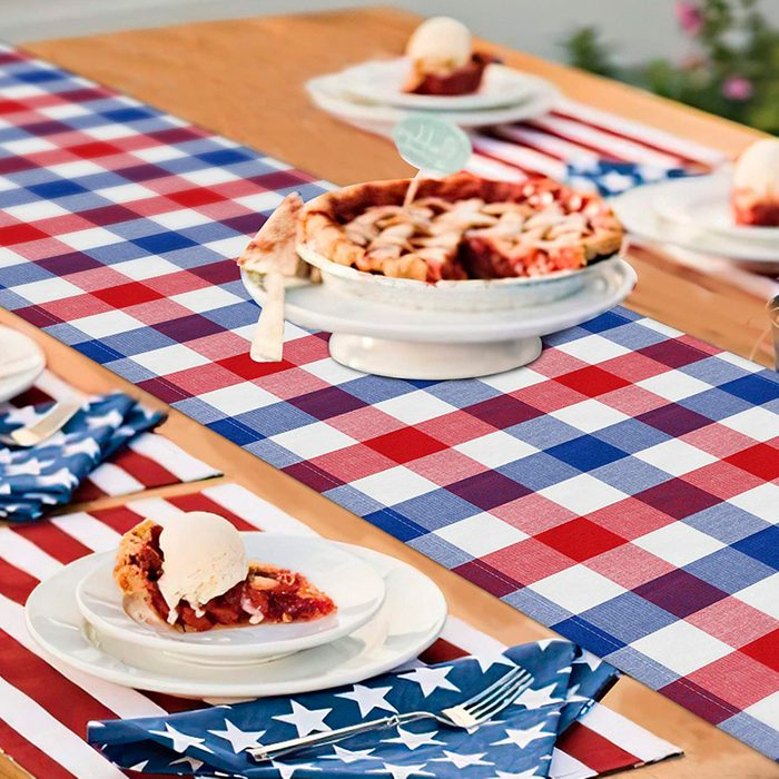 4th Of July Buffalo Plaid Table Runner