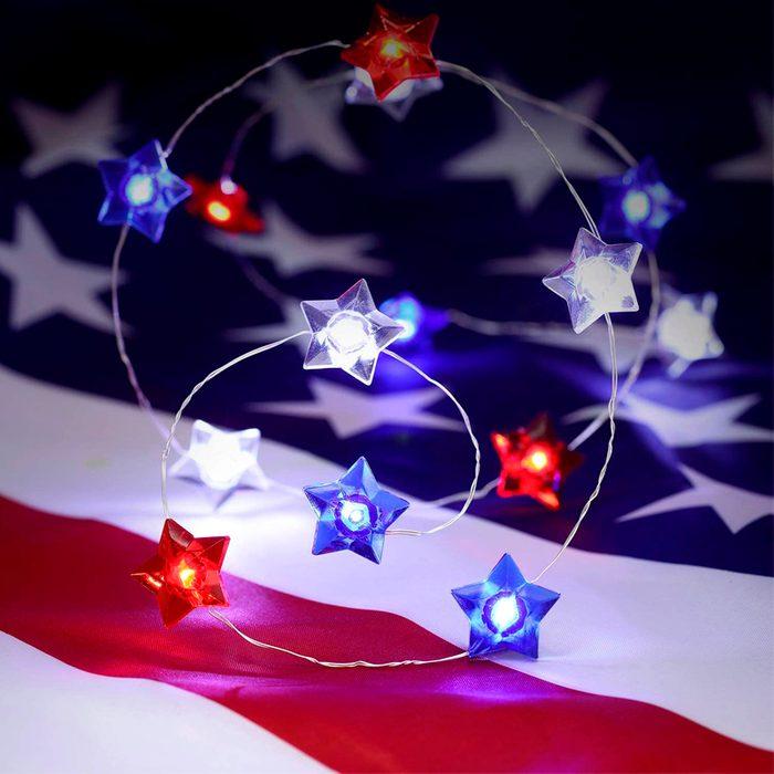 4th Of July Star String Light