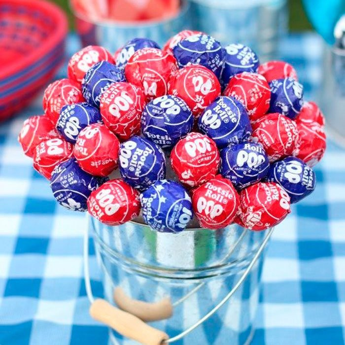 4th Of July Lollipop Tree Topiary Centerpiece
