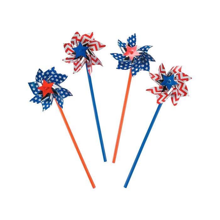 American Flag Patriotic Pinwheels