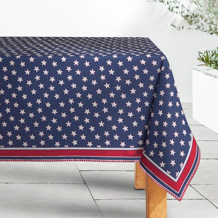 Americana Oilcloth Outdoor Tablecloth