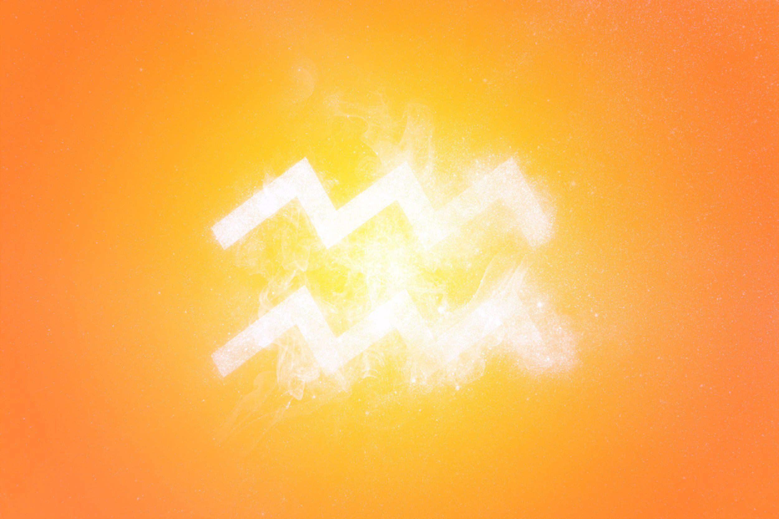 Aquarius Zodiac Sign. Abstract sky background
