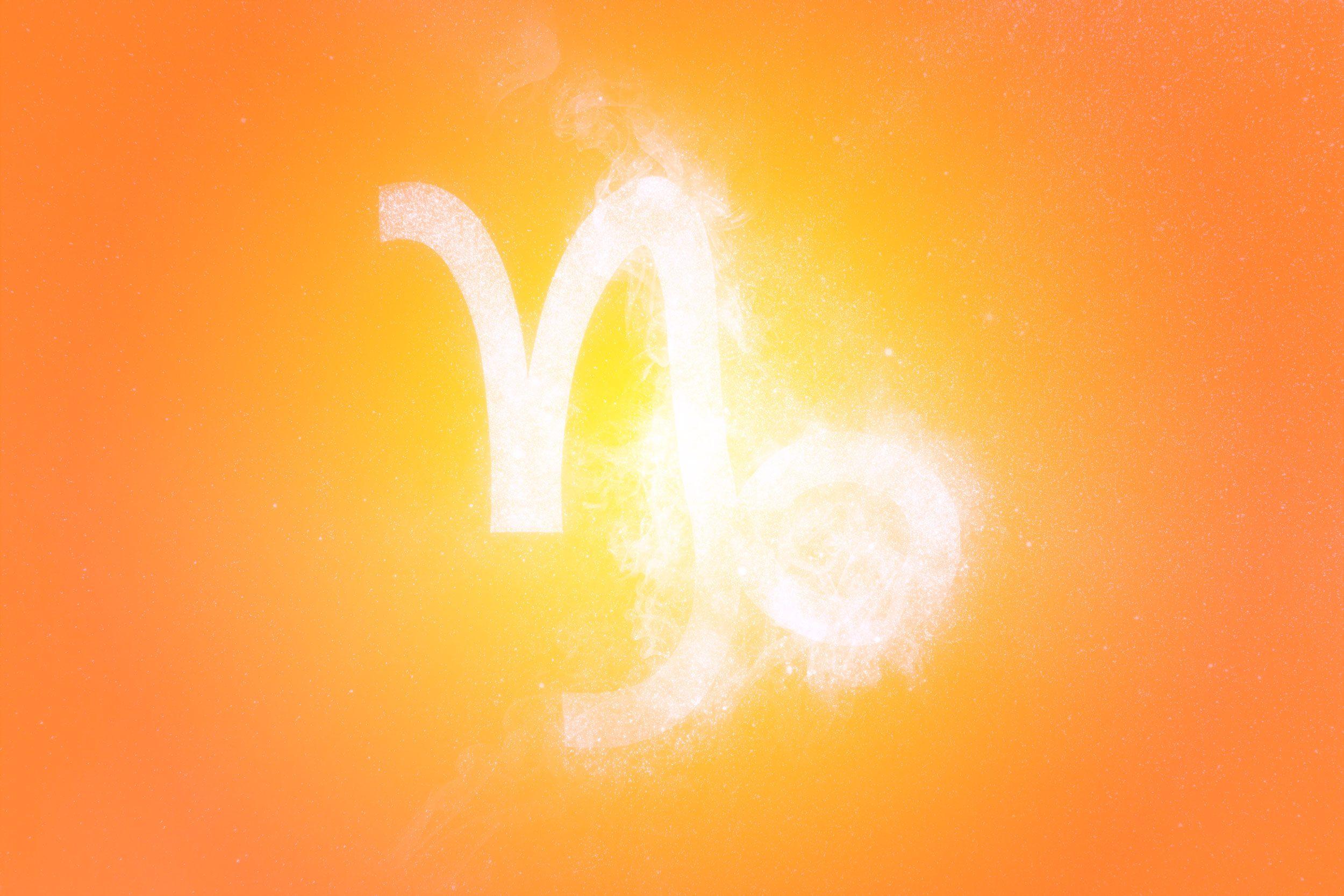 Capricorn Zodiac Sign. Abstract sky background