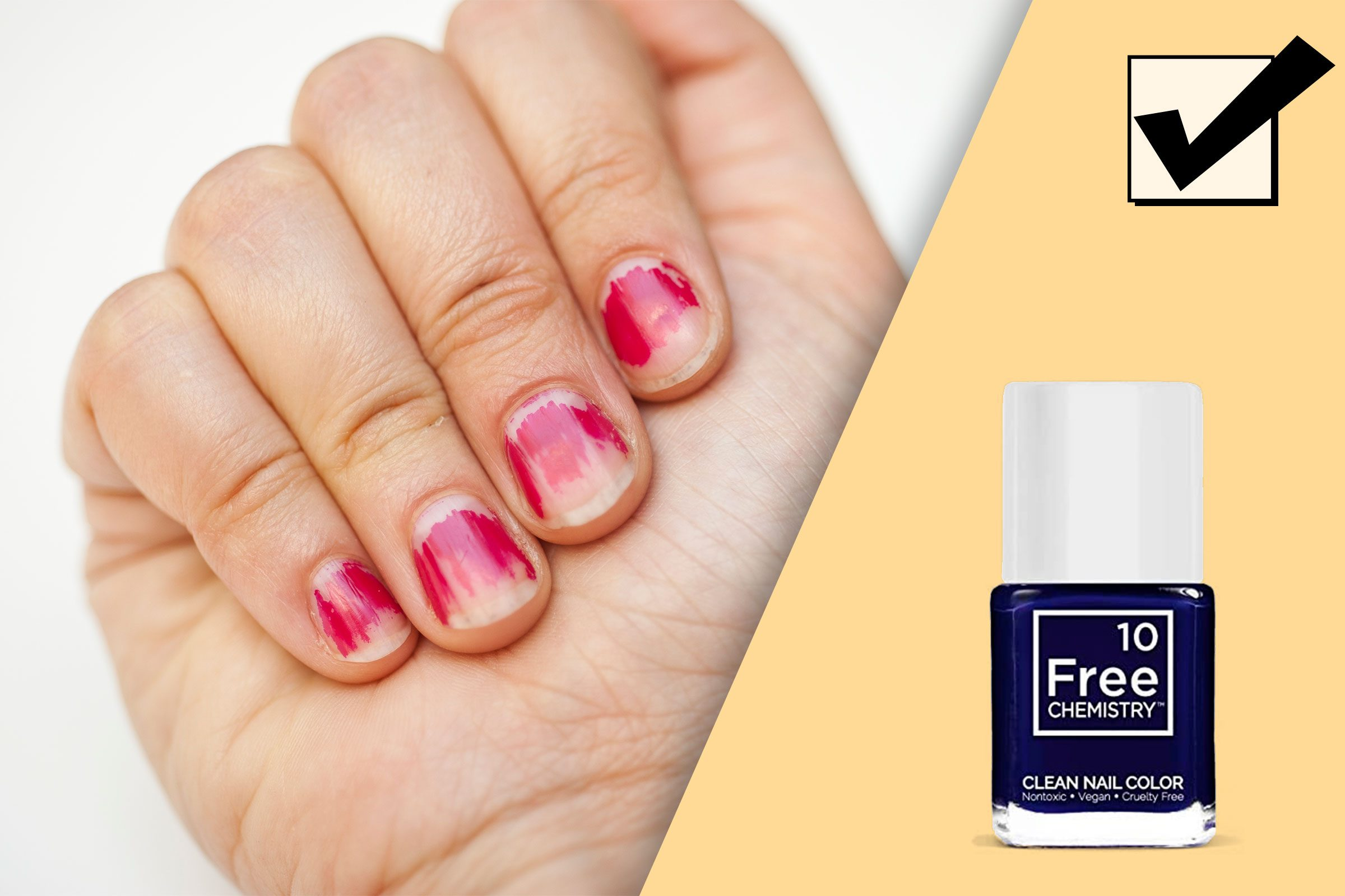 chipped nail polish; and recommended product