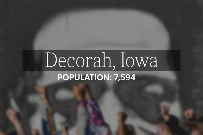 Decorah, Iowa (Population: 7,594)