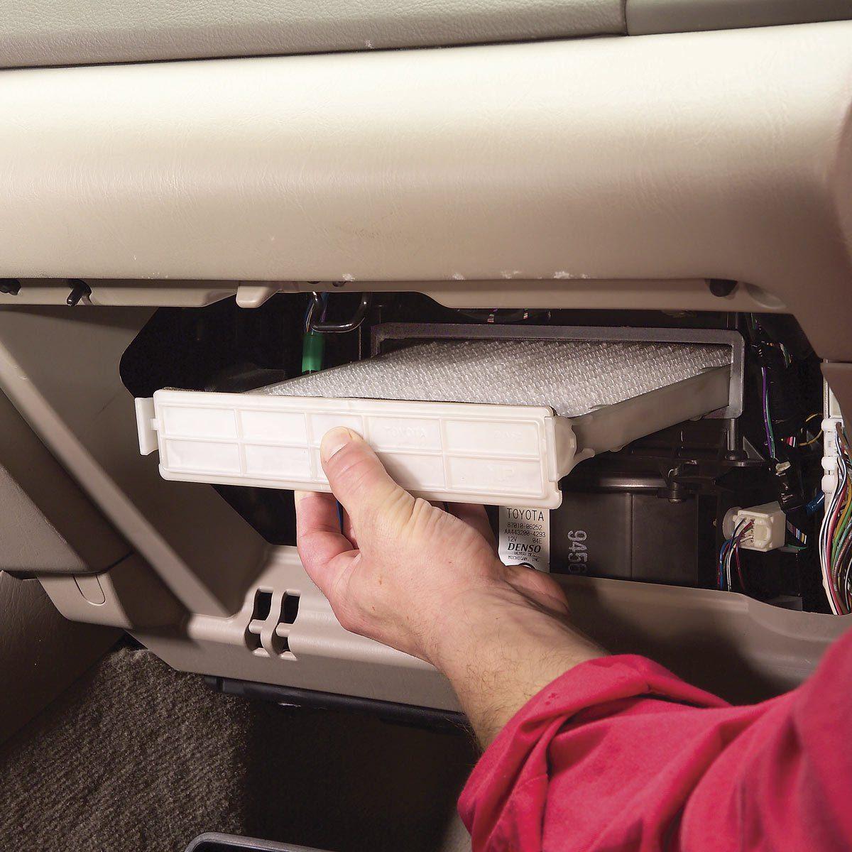 car repair. filter replacement.