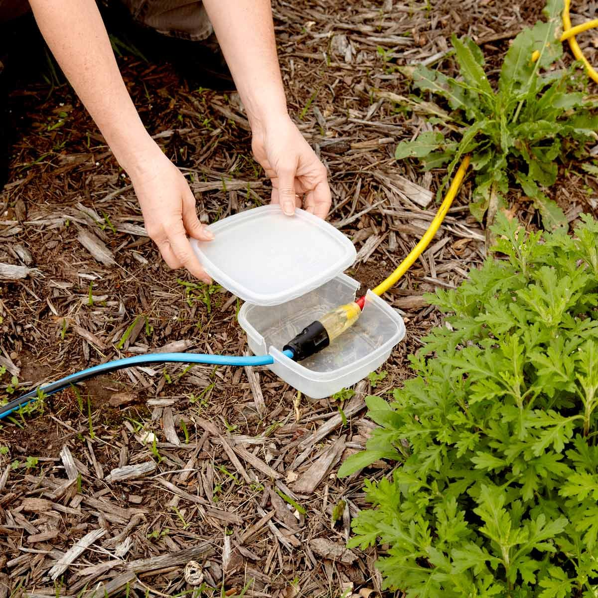 Temporary extension cord exterior protection