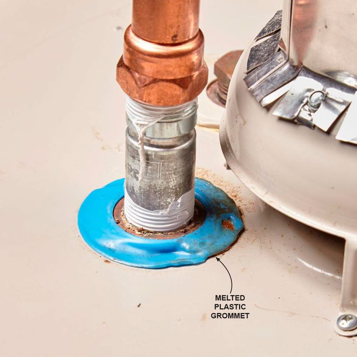 Melted Grommet on a Water Heater