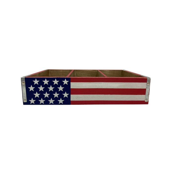 Flag Americana Wood Crate
