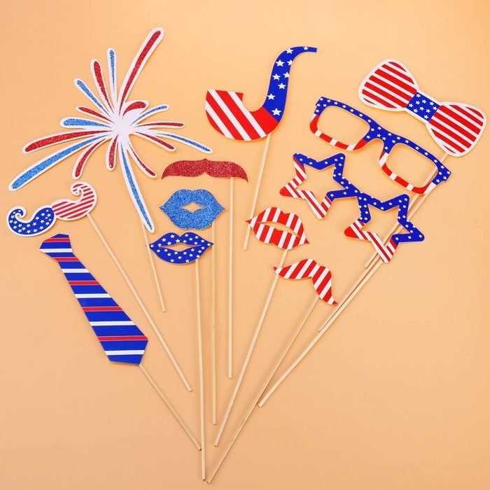 Fourth Of July Patriotic Decoration Photo Booth Props