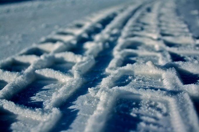 Snow Tire Tracks
