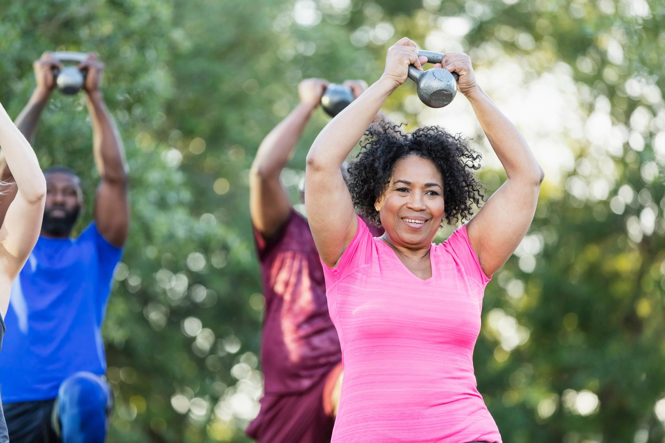 outdoor fitness exercise class