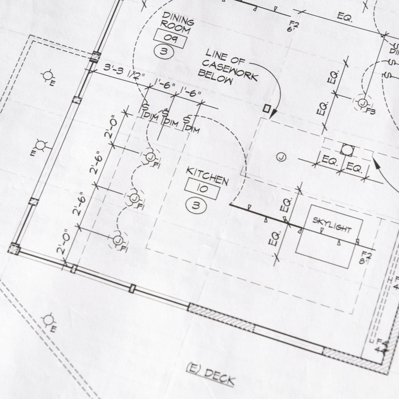 Home Remodel Blueprint of a Kitchen's Electrical Plan