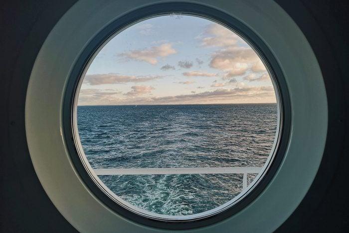 Windows to sea on a Cruise ship