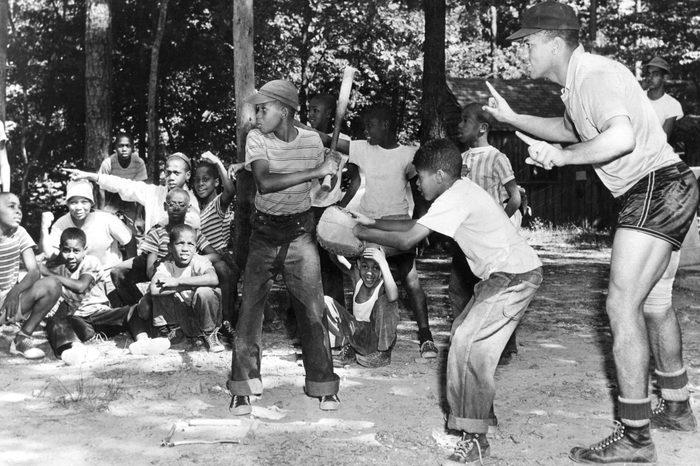 Baseball At Summer Camp