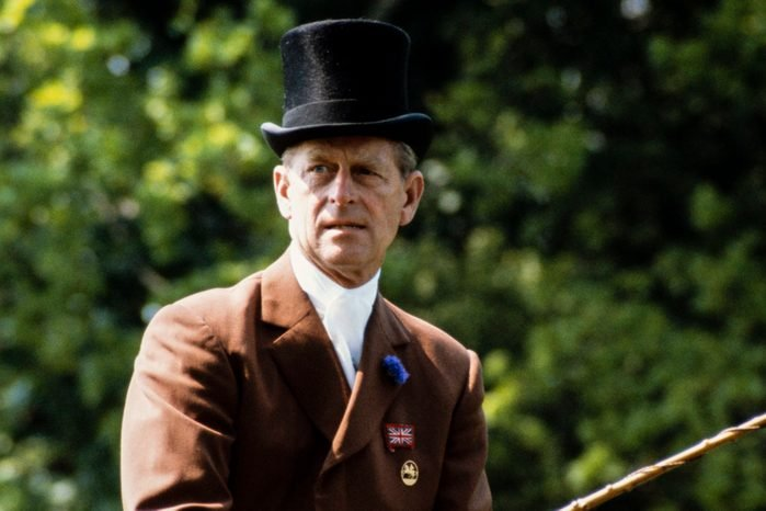 Prince Philip competes in the Carriage Driving section at the Windsor Horse Show