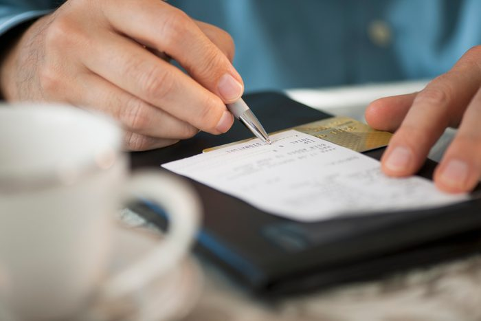 Man signing bill