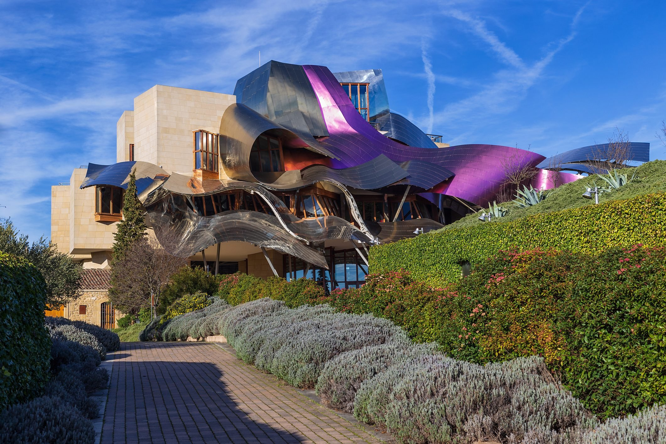 Marques de Riscal Hotel, a Frank Ghery building in Elciego, Spain, on March 2018